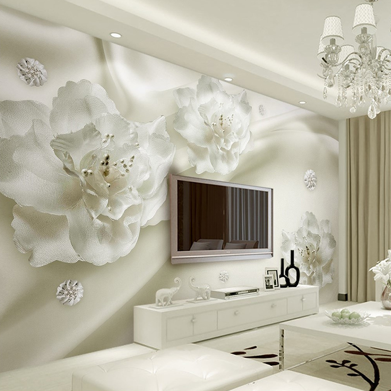 Custom Photo Wallpaper 3D Mural Wall Stickers Aesthetic Light Luxury Flowers European Style 3d TV Backdrop papel de parede xchelda custom modern luxury photo wall mural 3d wallpaper papel de parede living room tv backdrop wall paper of sakura photo