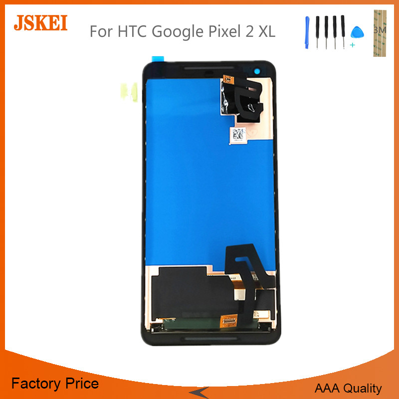 6.0 Inch 2560x1440 LCD For HTC Google Pixel 2 XL LCD With Touch Screen Display Assembly With Tools Free Shipping