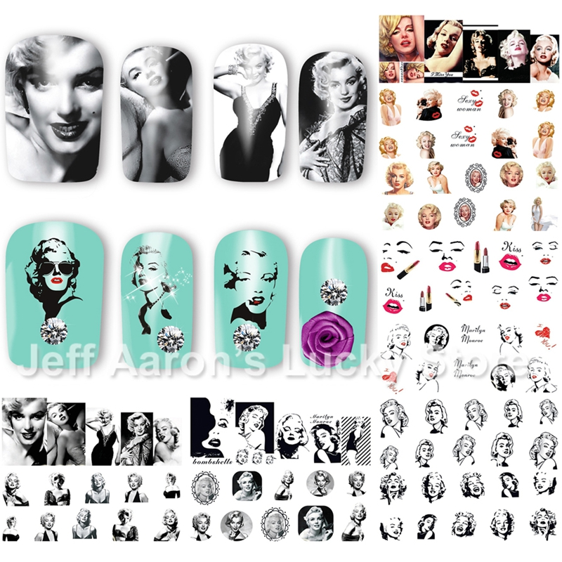 Buy marilyn monroe nail decals and get free shipping on AliExpress.com