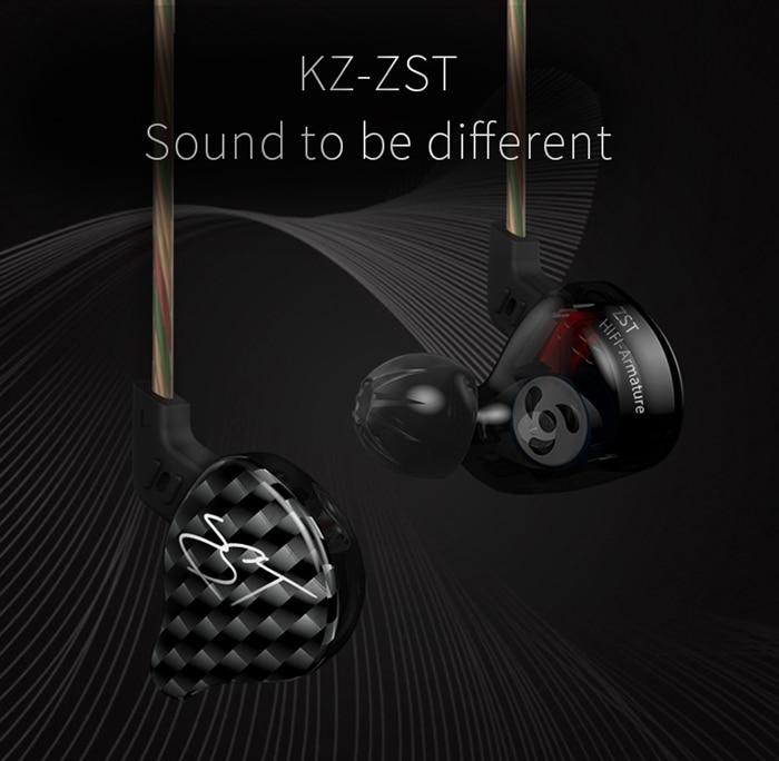 bilder für KZ ZST Dynamischer HiFi Musik In-ohr Kopfhörer Noise Cancelling Super Bass mit Mic Unterstützung freihändige Anrufe