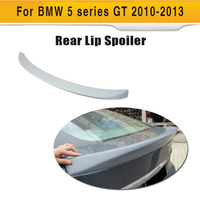 Unpainted PU 5 series auto car trunk lip spoiler wings for BMW GT 550i 535i 2010 2013