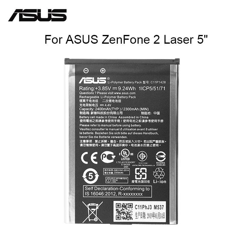 """Batterie de remplacement originale ASUS C11P1428 2400 mAh pour Asus ZenFone 2 Laser ZE500KL ZE500KG Z00ED 5 """"outils gratuits"""