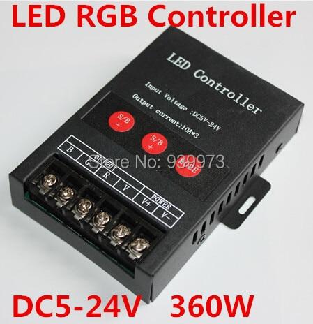led RGB controller for led strip lights led module 5-24v 360w for 25m led 5050 RGB STRIP AND 3528 RGB STRIPS arlight лента 5 метров rt 2 5000 24v cool 8k 2x 3528 600 led lux