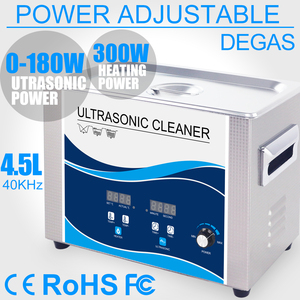Image 1 - Ultrasonic Cleaner 4.5L Portable Bath 180W Power Adjustable Degas Heater Ultrasound Transducer Tableware Lab Denture Lens Tools