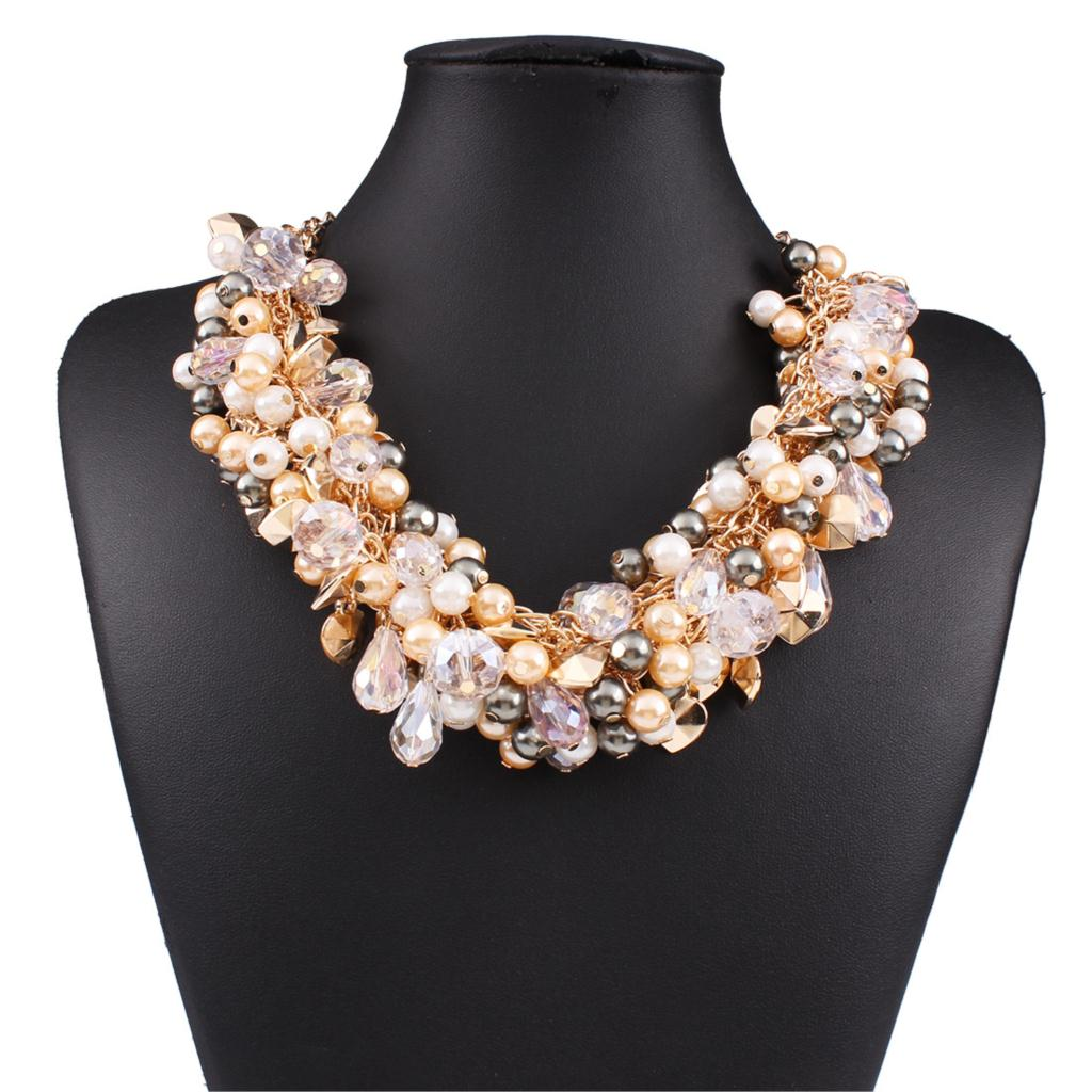 factory wholesale brand pearl necklace multilayer alloy