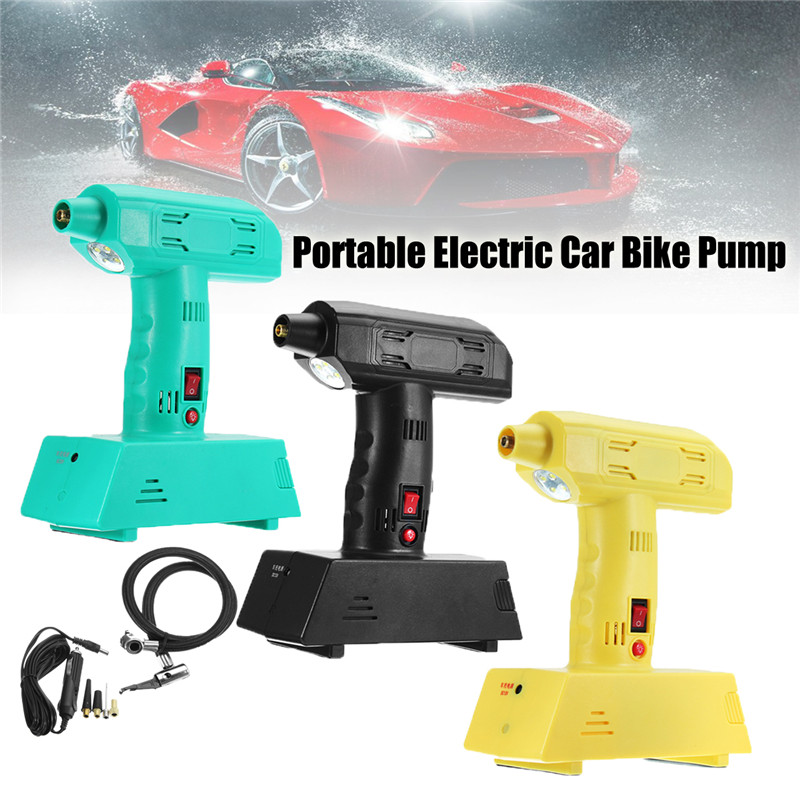 High Quality 12V Rechargeable Portable Electric Car Bike Pump Air Compressor Tire Inflator electric tire inflator air pump portable tiny smart for electric bike mountain bicycle
