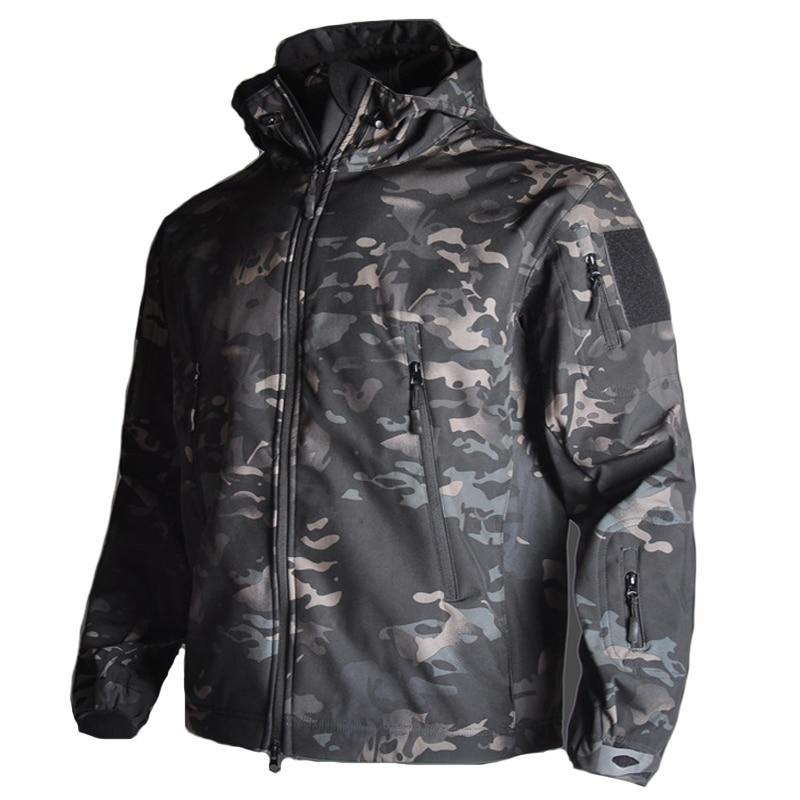 TAD Men Clothes Camouflage Softshell Tactical Jacket Outdoor Sport Waterproof Windbreaker Hunting Jacket Hiking Explore Coat