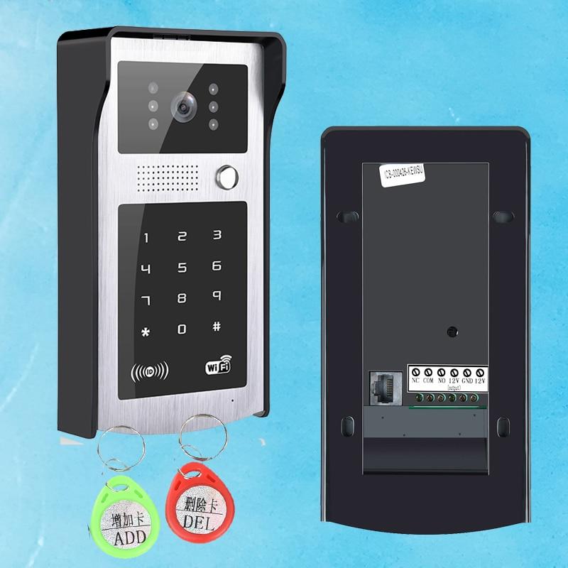 Wifi Rfid et mot de passe Vidéo Porte Téléphone Tactile Clavier WiFi IP Sonnette de la porte Sonnette Vidéo pour La Maison