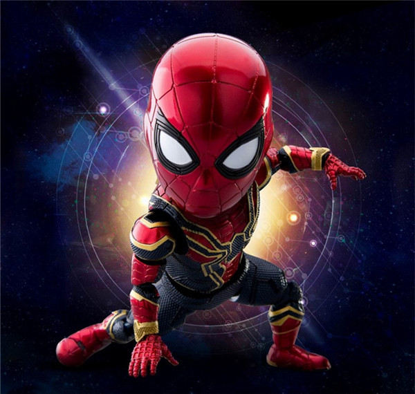 цена на 16CM Anime figure The avanger spiderman Q version action figure collectible model toys for boys