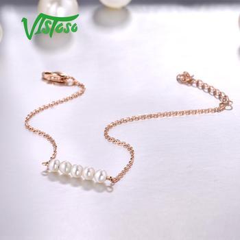 Rose Gold Freshwater White Pearl Bracelet 4