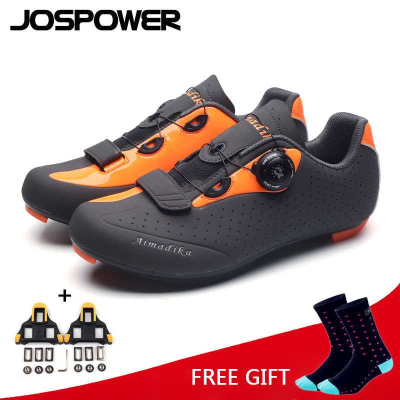 все цены на JOSPOWER MTB Road Cycling Shoes Wearable Breathable Bike Shoes Men PRO Racing Team Self-Locking Athletic Bicycle Shoes онлайн