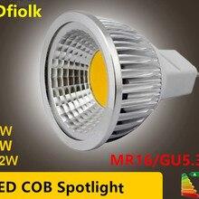 Nieuwe Высокая мощность лампада Led MR16 GU5.3 COB 6 Вт 9 Вт 12 Вт Dimbare Led Cob прожектор Холодный белый MR 16 12 В лампа гу 5,3 220 В