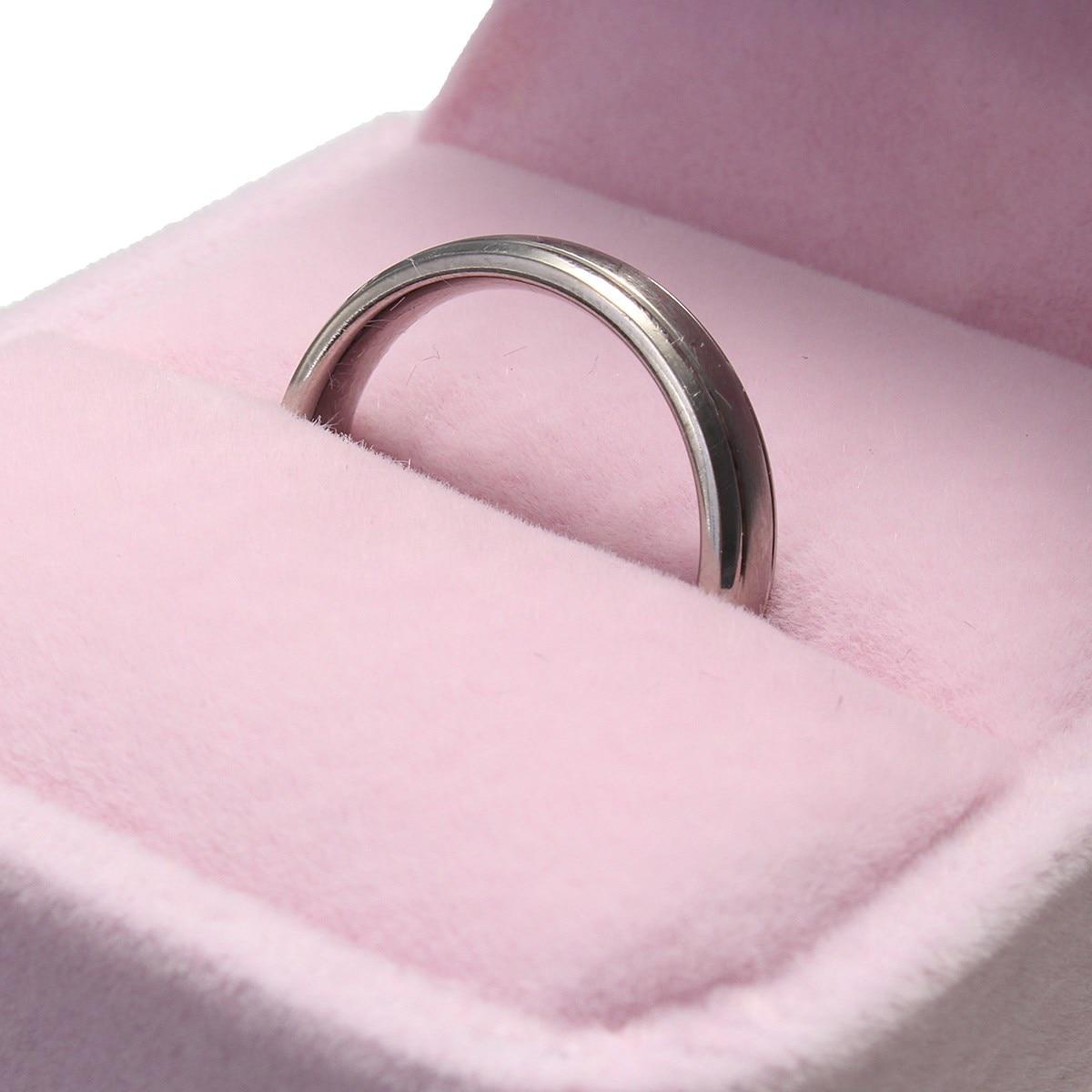 New Engagement Velvet Ring Box Jewelry Display & Packaging Storage ...