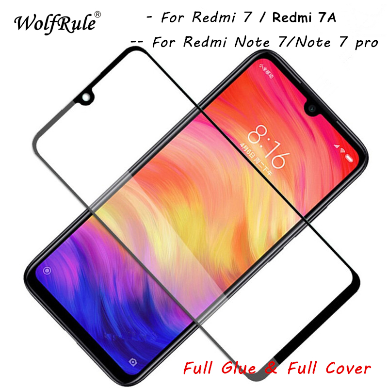 2pcs Screen Protector Redmi 7A Tempered Glass Full Glue Phone Glass For Xiaomi Redmi 7 Full Cover Film Redmi 7 Redmi 7A