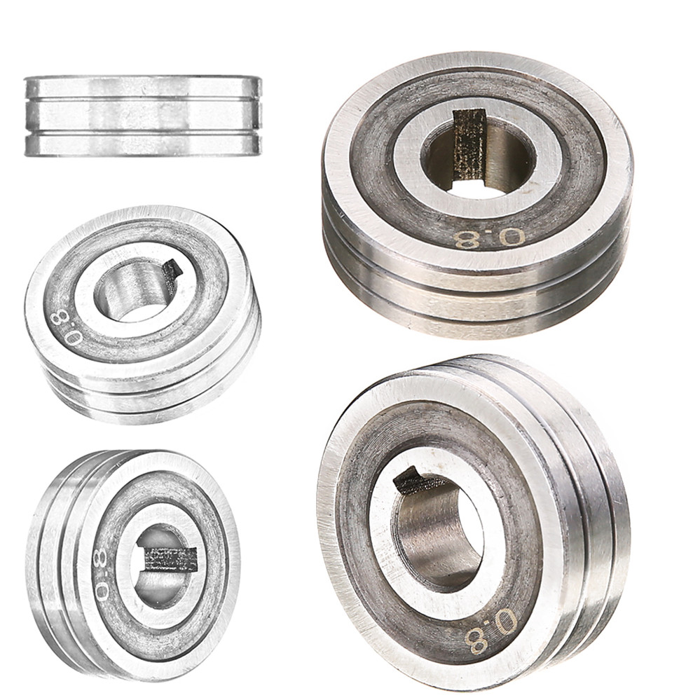 Durable 0,6*0,8 MIG Roller Stahl Präzision Schweißer Draht Feed Stick Roller Rolle Teile Kunrled-Nut. 030