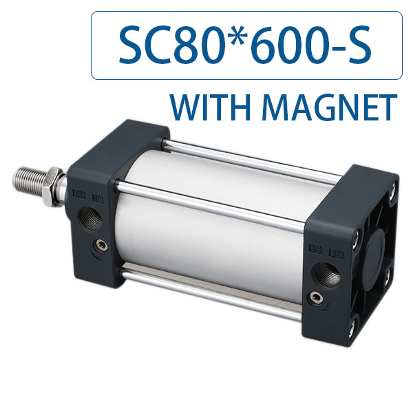Free shipping SC80x600 Series Single Rod Double Acting Pneumatic Bore 80 Strock 600 Standard air pneumatic cylinder SC80*600