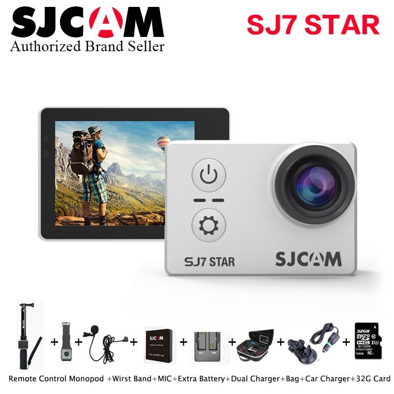 Original SJCAM SJ7 Star 4K 30fps Wifi  Ultra HD Ambarella A12S75 Waterproof Action Camera 2.0 Touch Screen Remote Sports DV