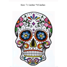 Embroidered big beautiful skull Patch sewing fabric bagde for cloth bags jackets back(7.1
