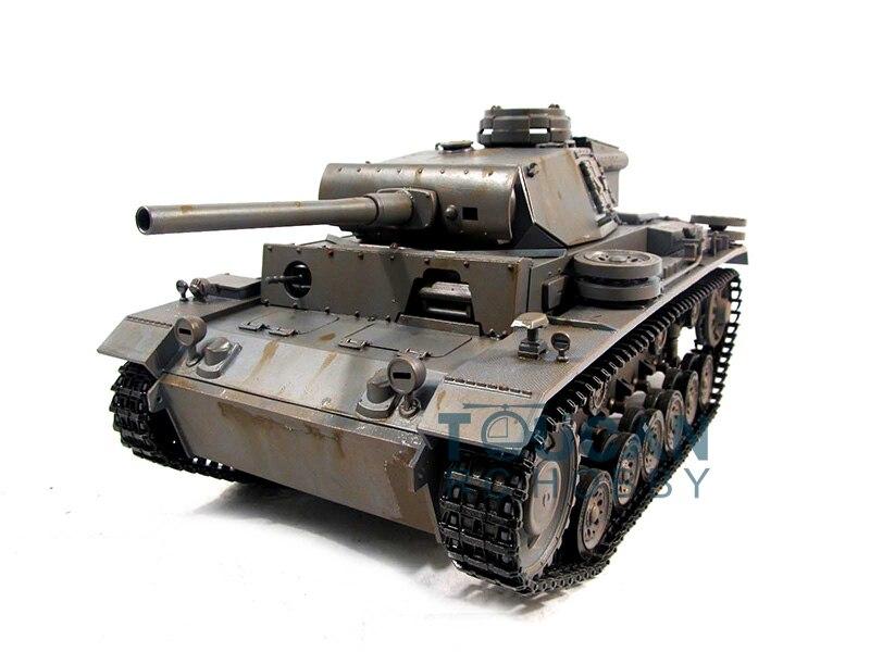 100% Metal Mato 1/16 Panzer III RC RTR Tank Model BB Shooting Pellets Gray 1223 цена и фото
