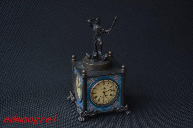 Rare ancienne dynastie Qing horloge royale en laiton \ montre de poche mécanique, peut travailler, avec marque, combattants, livraison gratuite