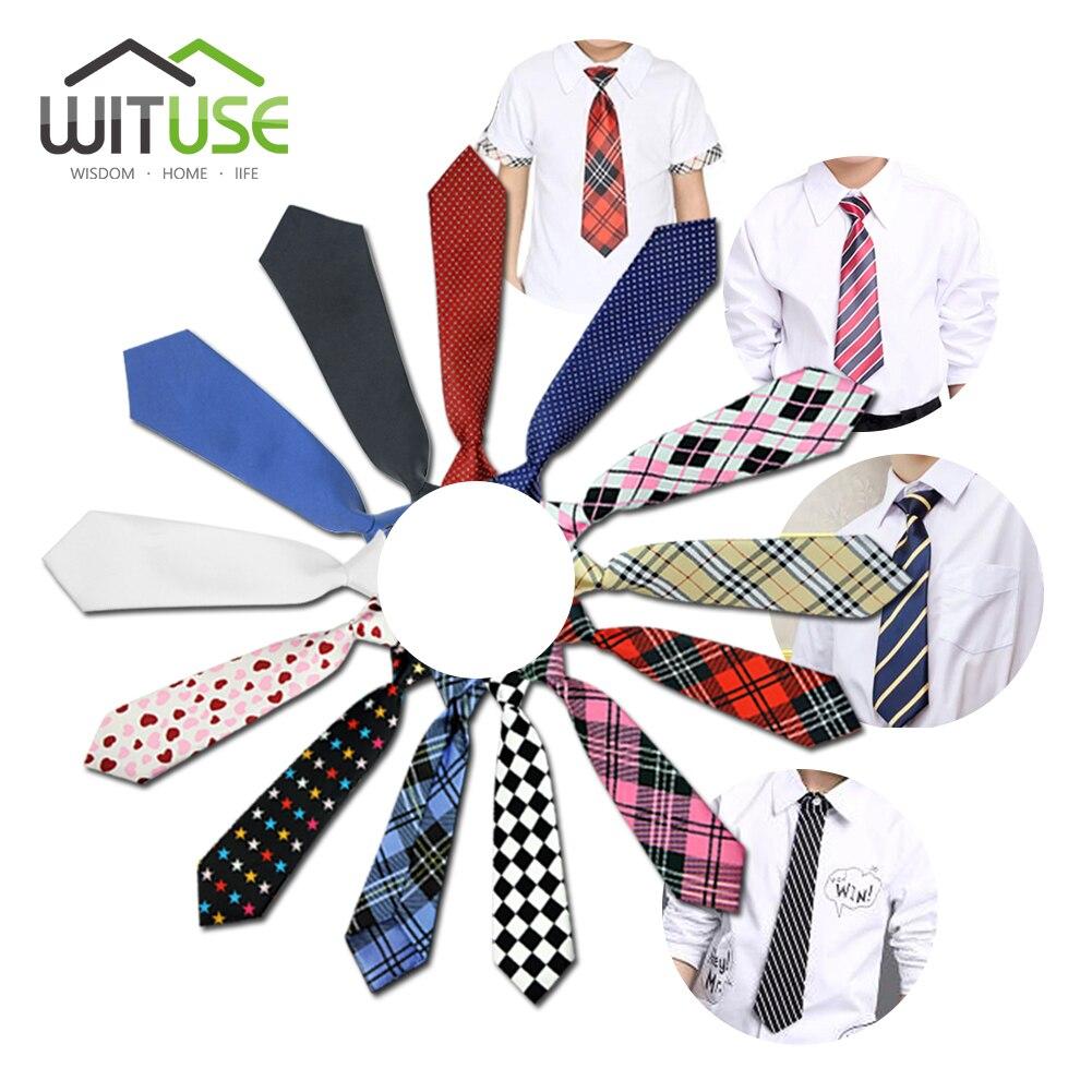 10 Styles School Girl Boy Kids Wedding Elastic Tie Necktie