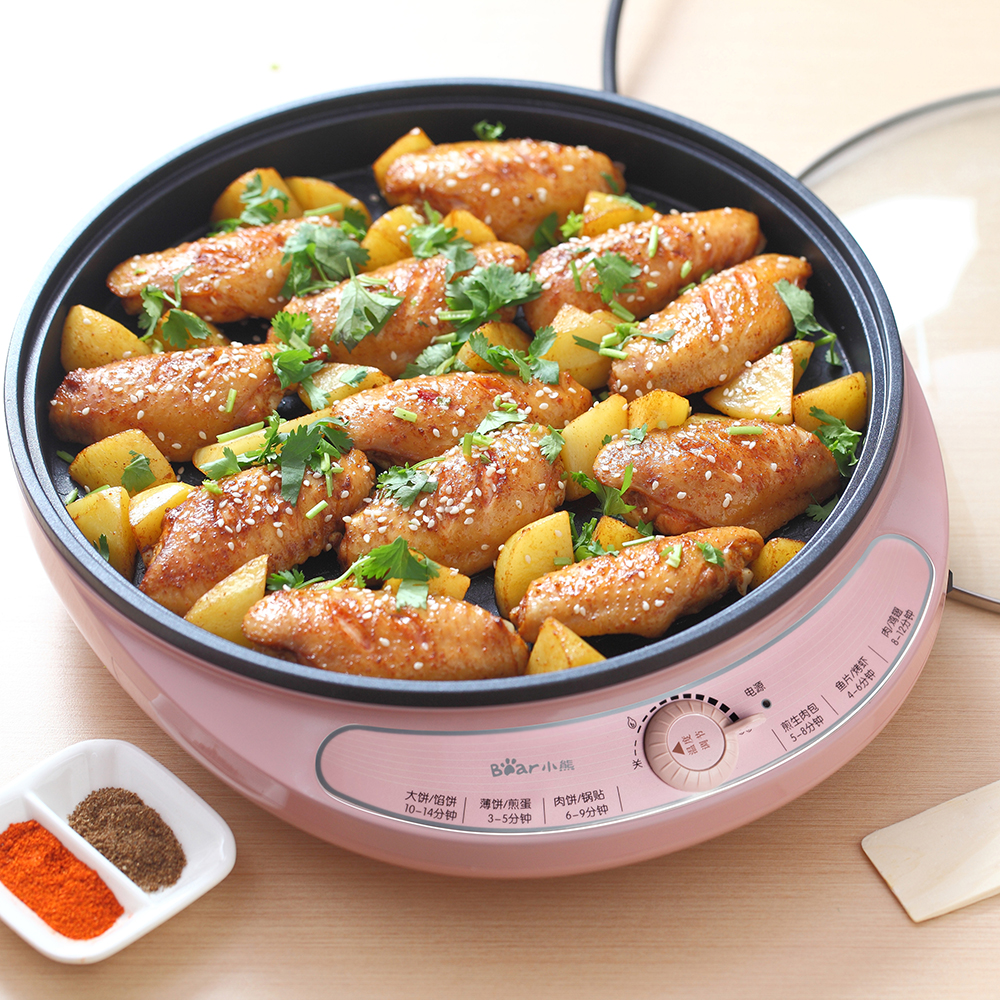 220V Electric Baking Pan Crepe Maker Machine Non-stick Household Frying Pan With Automatic Off Function