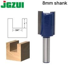 1 pc 8mm 샹크 고품질 스트레이트/다도 라우터 비트 세트 직경 목재 절단 도구