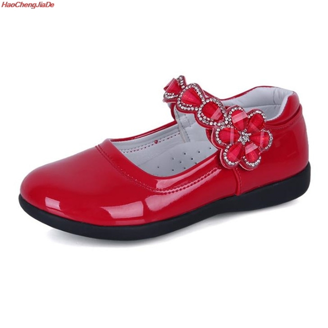 Kids Girls Shoes Lovely Lace Flowers Leather School Girls Dress Shoes Spring Autumn Wedding Party Dress Shoes For Girls