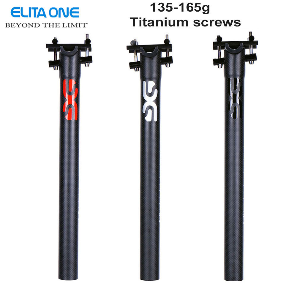 carbon seatpost 27.2/30.8/31.6*350/400mm carbon bike parts mtb seat post road carbon seatpost Certificat CEN 3K matte 145g-165g no logo bicycle seat posts carbon road mtb 3k gloss matte offset seat post 25 4 27 2 30 8 31 6 ultra light bicycle seatpost
