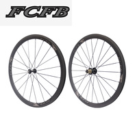 2017 FCFB 700C carbon wheelset 38mm carbon wheel for road bike clincher UD carbon wheels for factory sale