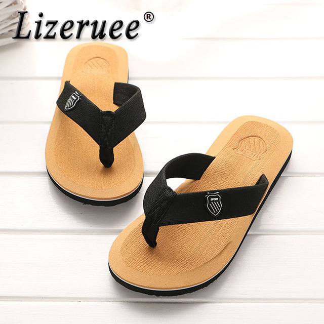 Lizeruee 2019 Men Summer Flip-flops Slippers Beach Sandals Indoor&Outdoor Casual Shoes Sandals Men Sapato Masculino Men Chinelo