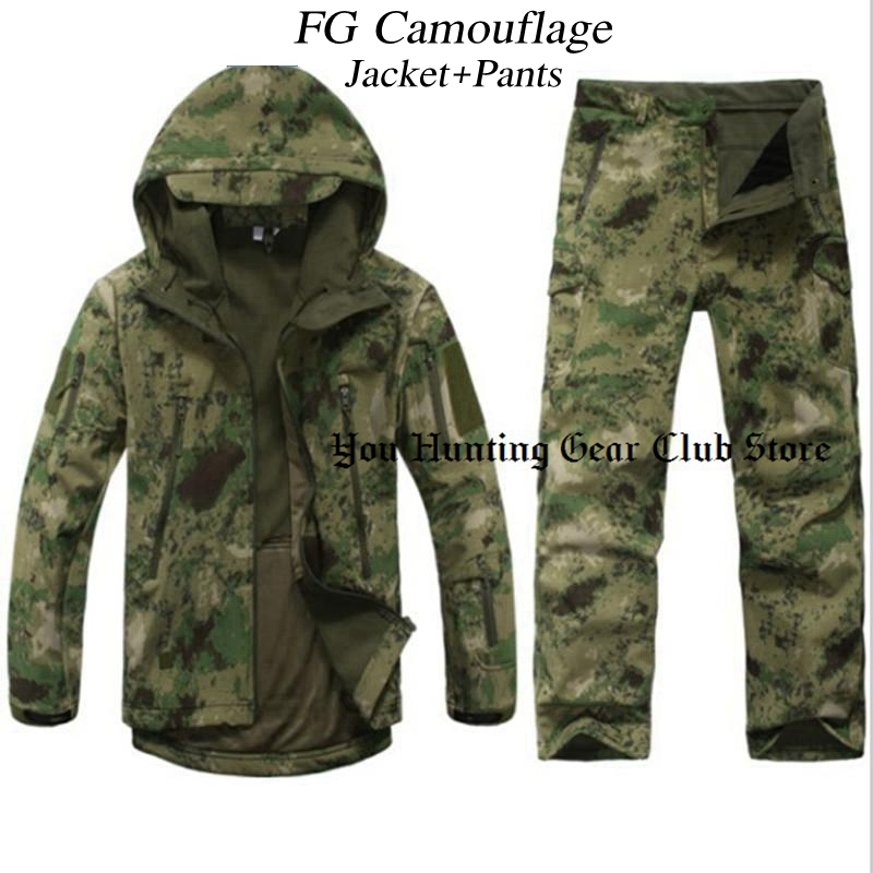 цена 12 Colors TAD V 4.0 Men Outdoor Hunting Camping Waterproof Windproof Polyester Coats Jacket Hoody TAD softshell Jacket+pants