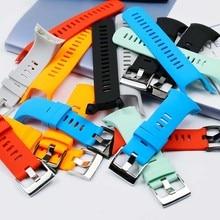 Men's Watch Accessories Silicone Strap for Suunto Spartan Cool Run Optoelectronics Sports Waterproof Rubber Strap Women стоимость
