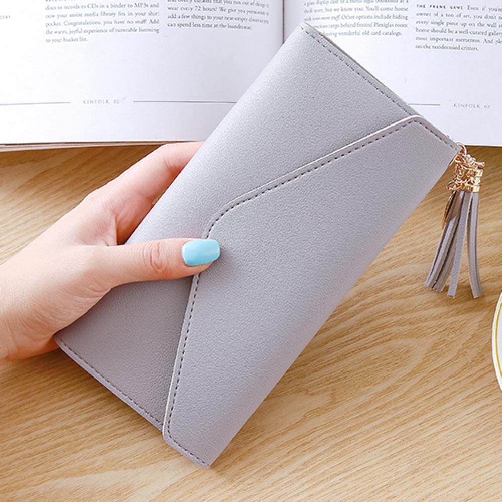 Wallets Long Wallet Women Purses Tassel Fashion Coin Purse Card Holder Wallets Female High Quality Clutch Money Bag Pu Leather Wallet