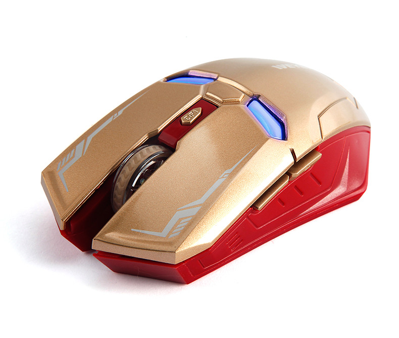 תיבת השוק החדש יצירתי איש ברזל מותג עכבר המשחקים LED כחול אופטי USB Wired עכבר עכברים עבור גיימר מחשב מחשב נייד מתנת