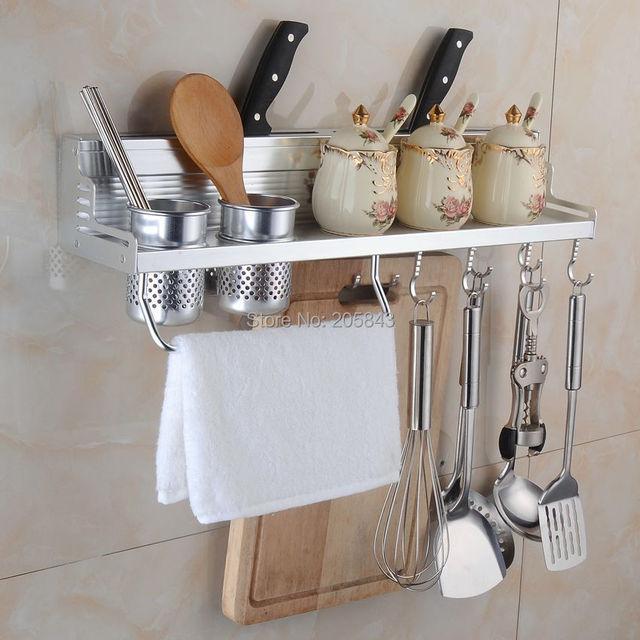 60 cm 2 cocina de aluminio cocina de almacenamiento en Rack estante pared  estante de la 572fcfddca00
