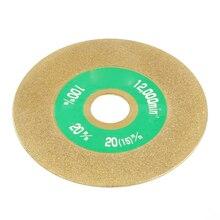 100 мм углеродистая сталь Алмазное покрытие шлифованные колеса шлифованные для резки диск Золото для карбида шлифовальный станок инструмент