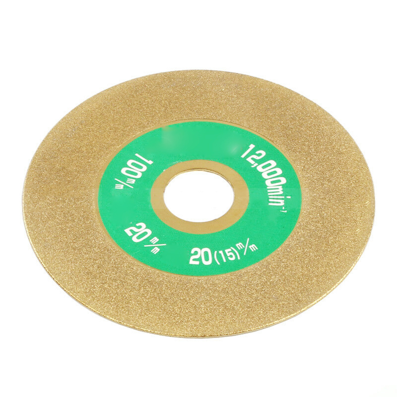 100mm Carbon Steel Diamond Coated Grinding Wheel Cutting Polishing Disc Gold For Carbide Stone Angle Grinder Tool
