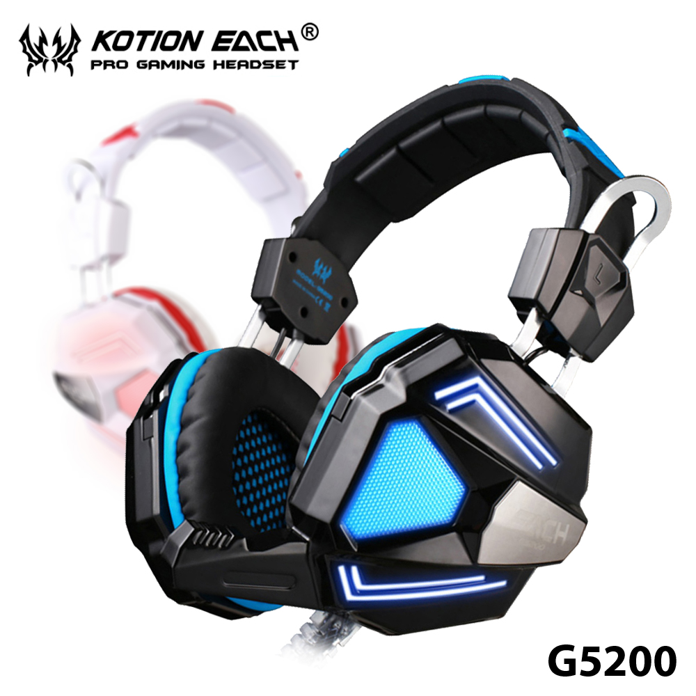 ФОТО +Hot Sale+ KOTION EACH G5200 Gaming Headphone 7.1 Surround Sound Vibration USB Headset+Mic+Breathing LED Comfortable Wearing