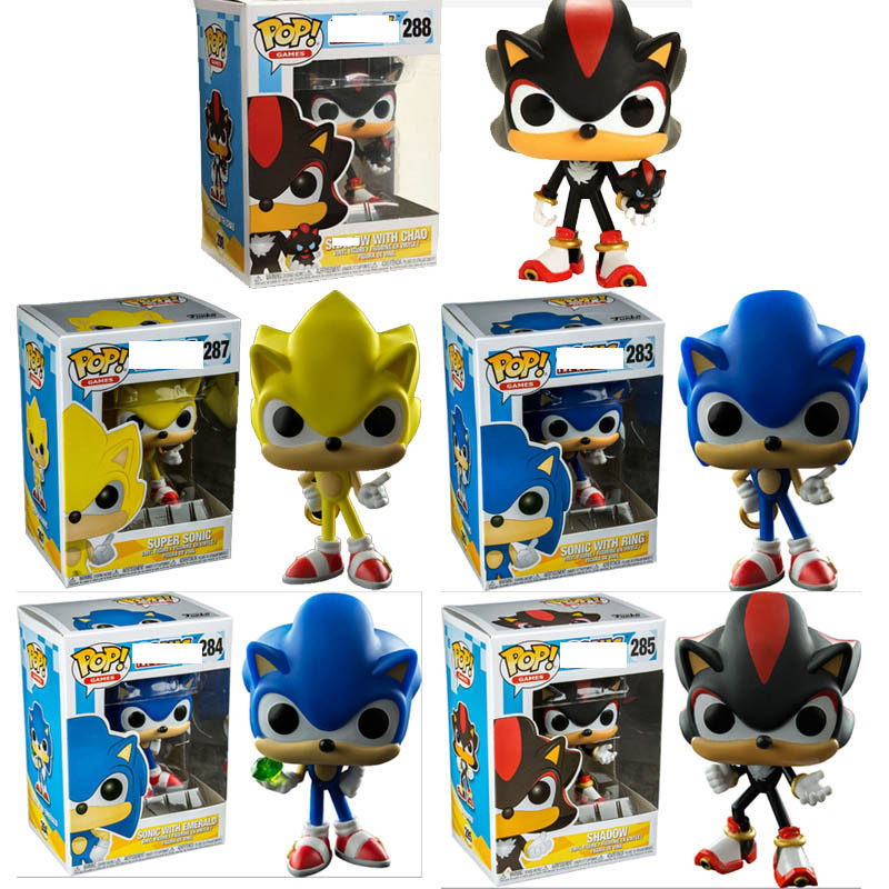 Funko pop SUPER SONIC, SONIC WITH RING, Shadow Action Figure Anime Model Pvc Collection Toys For children Gifts