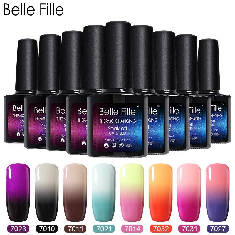 Belle Fille any20 Colors Gel Polish Temperature Change UV Gel Makeup UV Manicure Varnish UV Nail