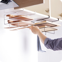 Multi Layer Iron Shelf Multifunctional Cutting Board Storage Cabinet Hanging Holder Cupboards Rack Organizer Kitchen Accessories