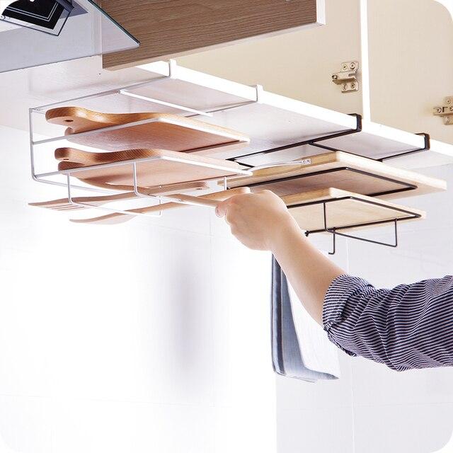 Charmant Multi Layer Iron Shelf Multifunctional Cutting Board Storage Cabinet  Hanging Holder Cupboards Rack Organizer Kitchen