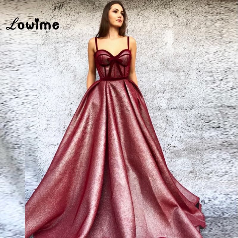 Elegant Abiye Robe Longue Arabic   Evening     Dress   Gowns Custom Made Spaghetti Strap Simple Design With Bow Sexy Party Gown For Prom