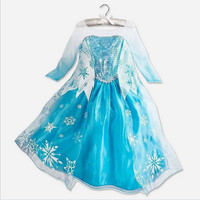High Quality Custom Crown Set For Girls Anna Elsa Elza Dress Kids Princess Girl Baby Party