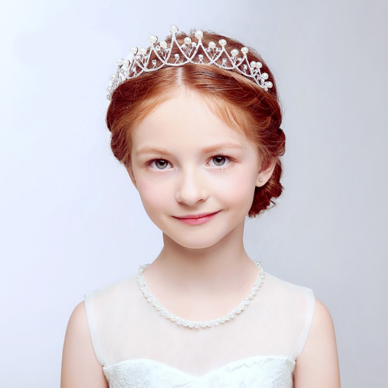 Fashion Crystal Tiara Hairband Kid Girl Bridal Princess Prom Crown Party Accessories Children Princess Prom Crown