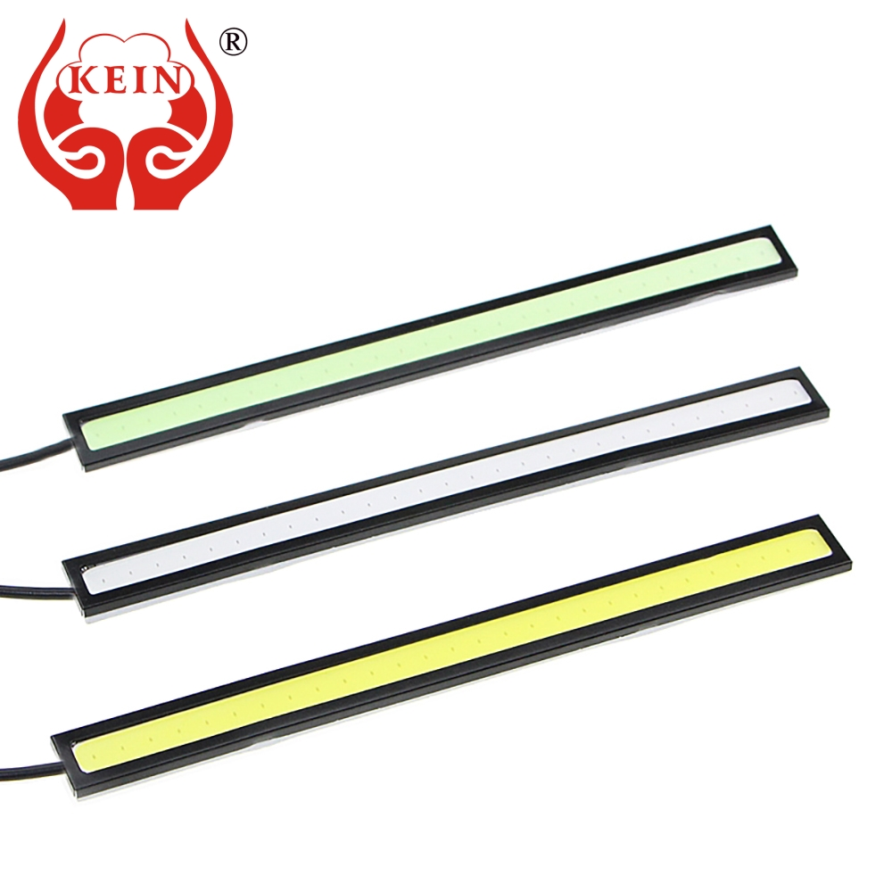 KEIN 2PCS Auto car light 14CM 20LED COB DRL daytime running lights Pathway Lighting Brake Trunk Parking Tail car styling whtie 72w hi lo replacement led car headlight h4 6000k car auto front bulb car daytime running light fog lights parking