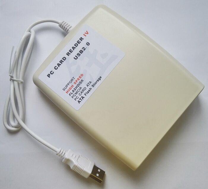 Nouveau ATA PCMCIA Lecteur de Carte Mémoire Carte 68PIN CardBus À USB Adaptateur convertisseur