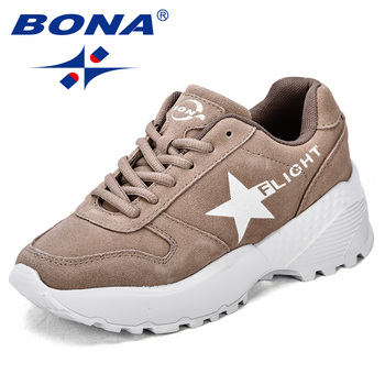 BONA New Classics Style Women Walking Shoes Lace Up Female Sport Shoes Outdoor Jogging Sneakers Comfortable Fast Free Shipping 2