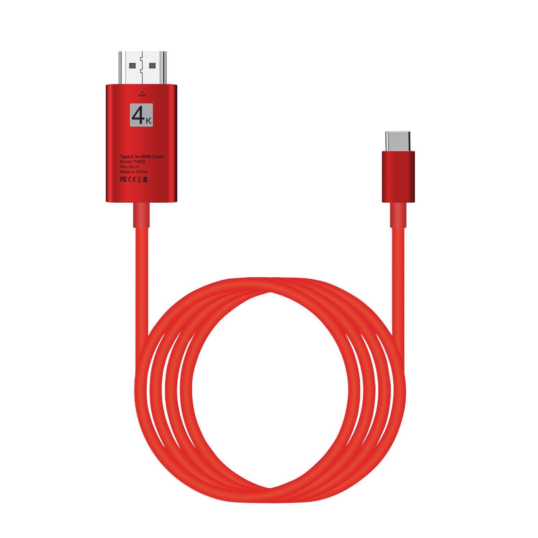 USB 3,1 Тип C к HDMI Тип Кабеля C к HDMI ТВ проектор видео адаптер 4 К конвертер для MacBook для samsung Galaxy S8 + S9 + LG G5